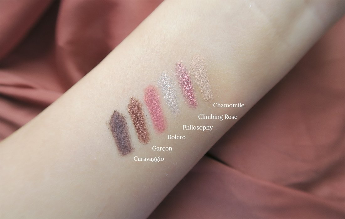 paleta de Nabla SOUL BLOOMING Swatches